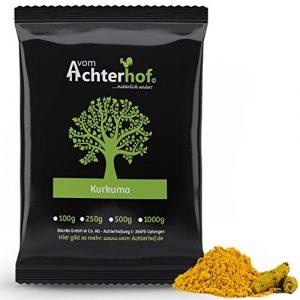 1 kg Kurkuma Pulver Turmeric Gelbwurz Kurkumin Curcuma gemahlen original vom-Achterhof – schadstoffuntersuchte Spitzenqualität –
