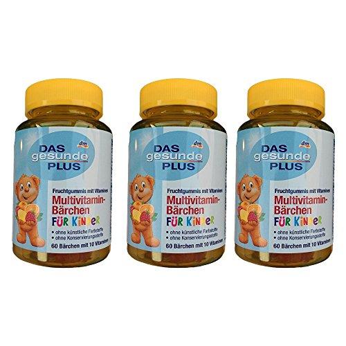 Das gesund Plus Multivitamin Bärchen für Kinder; 3er Pack (3 x 60 Stk)