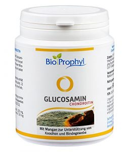 BioProphyl Glucosamin Chondroitin – Gelenkkomplex mit 400mg Glucosaminsulfat und 200mg Chondroitinsulfat ergänzt mit Vitamin E und Mangan – 90 Kapseln