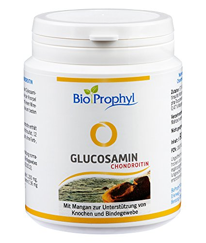 BioProphyl Glucosamin Chondroitin - Gelenkkomplex mit 400mg Glucosaminsulfat und 200mg Chondroitinsulfat ergänzt mit Vitamin E und Mangan - 90 Kapseln