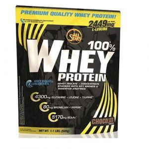 All Stars 100%* Whey Protein 2 x 500g Beutel Cookies-Cream