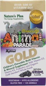 Animal Parade Gold, Children's Chewable Multi-Vitamin & Mineral, Grape Flavour, 120 Animals