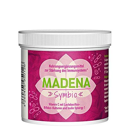 MADENA Symbio | 50 Kapseln | konzentrierte Lactobacillus-Bifidus-Kulturen | Inulin Synergy 1 | Vitamin C | Ohne Gluten, Laktose, Farb- und Konservierungsstoffe | 100% Gelatine-frei | Premiumqualität