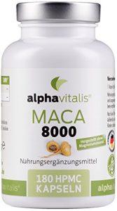 Maca Gold 8000 – 180 Maca Kapseln 20:1 Extrakt – vegan – ohne Magnesiumstearat – hochdosiert und in Premiumqualität – 6 Monate Versorgung