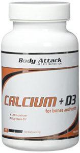 Body Attack Calcium+D3, 100 Tabletten, 1er Pack (1x 170g), Dose