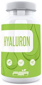 Hyaluronsäure hochdosiert 400mg pro Kapsel von der Profisport Marke FSA Nutrition® | Ohne Füll- und Trennstoffe | Vegan | 90 Kapseln