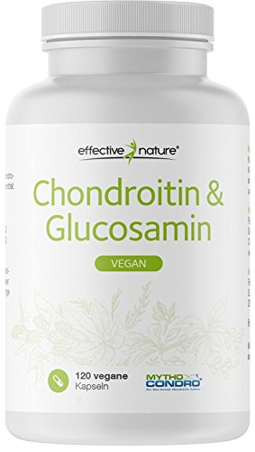 effective nature Chondroitin & Glucosamin - 100% Vegan - 120 Kapseln