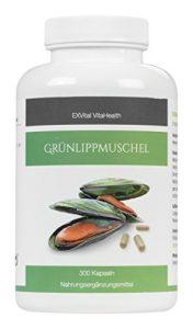 Grünlippmuschel 300 Kapseln- hoch konzentriert, EXVital VitaHealth, 300 Kapseln in deutscher Premiumqualität, kein Magnesiumstearat, 1er Pack (1x180g Dose)