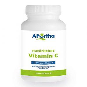 APOrtha Vitamin C aus natürlichen Quellen – 240 Kapseln
