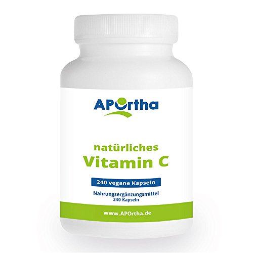 APOrtha Vitamin C aus natürlichen Quellen - 240 Kapseln