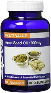 Hanföl 1000 mg | 180 Softgel-Kapseln | Höchste Stärke | 6-Monats-Vorrat