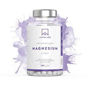 Magnesiumcitrat Kapseln [ 400 mg ] 180 Stück von Aava Labs – Neue Formel: KEIN Magnesiumstearat – 100% Vegan & NON-GMO – Reiner Nährstoff, nicht gestreckt – Für Muskel und Nerven Funktion – Hergestellt in der EU.