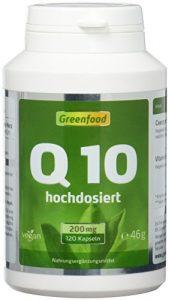 Q10, 200 mg, 120 Kapseln, vegan, extra hochdosiert – mit Vitamin E (erhöht die Aufnahme), natürlich gewonnen aus Algen, ohne Zusatzstoffe.