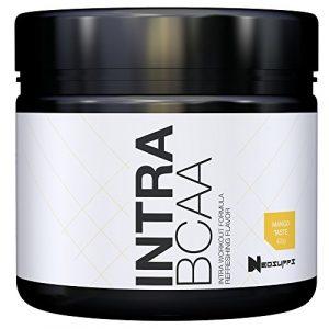 BCAA Pulver (Aminosäuren) für Muskelaufbau, Muskelschutz, Abnehmen & Sport | Aminos Hochdosiert 2:1:1 (Leucin, Isoleucin, Valin) mit tollem Geschmack | NeoSupps BCAAS 425g – Mango