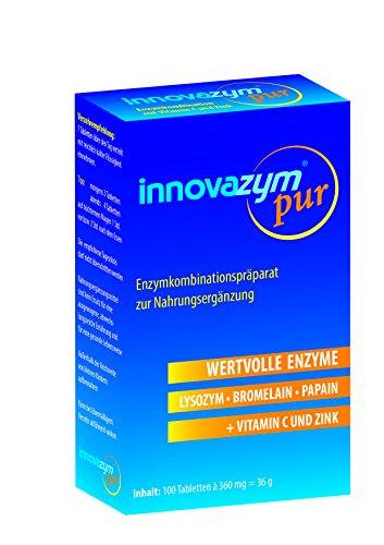 Multi Enzym Komplex -Premium Qualität mit Vitamin C | Von der Enzymforschungsgesellschaft hergestellt| enthält Lysozym+Papain - mit zusätzlichem Bromelain