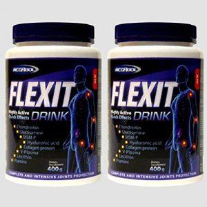 2x FLEXIT DRINK = 800g Pulver | hochdosierte Gelenk-Komplex Formel | Glucosamin – Chondroitin – MSM – Kollagen – Hyaluronsäure – Gelenk – Knorpelschutz | für Jung und Alt