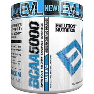 Evlution Nutrition BCAA 5000 | Pulverartiges Ergänzungsmittel Mit 5 Gramm Premium BCAA | 30 Portionen | Oregon-Himbeere