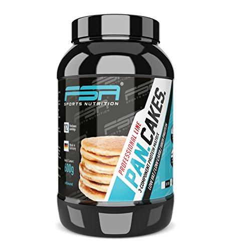 Protein Pancakes Low Carb und Low Fat, Eiweiß Pfannkuchen schnell und einfach, 600 g - von der Profisport Marke FSA Nutrition, Hergestellt in Deutschland