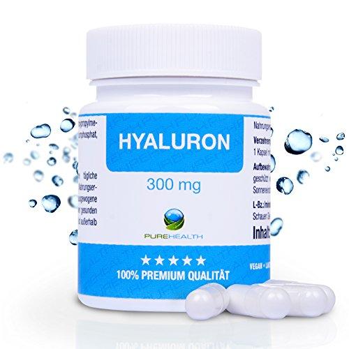 Hyaluronsäure Kapseln Anti Aging HOCHDOSIERT 300 mg pro Kapsel 60 Kapseln = 2 Monatsvorrat Bekannt aus dem TV! 100% vegan Hergestellt in Deutschland