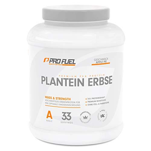 PLANTEIN ERBSE | Vegan Protein • Pflanzliches Premium Eiweißpulver aus gelben Erbsen | High Protein | Cremig & Lecker | Made in Germany | 1kg - APPLE PIE (Apfelkuchen)