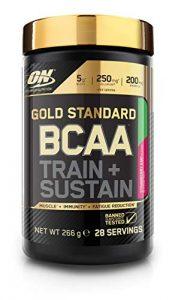 Optimum Nutrition Gold Standard BCAA- Verzweigtkettige Aminosäuren (mit Vitamin C, Wellmune und Elektrolyten, BCAA Pulver von ON), Strawberry Kiwi, 28 Portionen, 266g