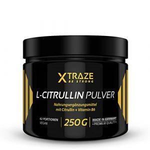 L-Citrullin Malat Pulver 250 g – 100% rein + Vitamin B6 vegan und ohne Zusatzstoffe – Qualität aus Deutschland – Aminosäure Citrulline für Kraftsport | Bodybuilding | Fitness (1 Dose)