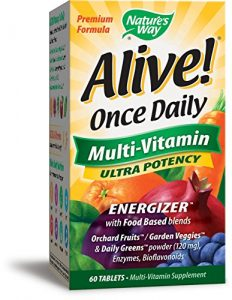 Nature's Way, Alive!, Einmal täglich, Multi-Vitamin, 60 Tabletten