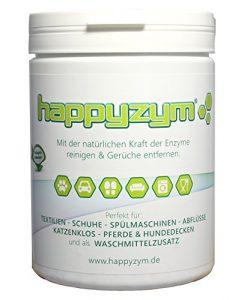 Happyzym Enzymreiniger und Geruch-Entferner ohne Duft – reinigt und beseitigt Gerüche (Katzenurin, Hunderurin und alle anderen Tiergerüche) durch Enzyme und Mikroorganismen 1000g Dose
