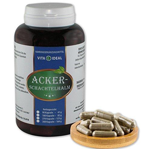 Ackerschachtelhalm, 270 Kapseln je 250mg rein natürliches Pulver, ohne Zusatzstoffe (Schachtelhalm, Zinnkraut)