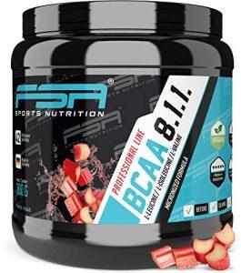 BCAA 8:1:1 Pulver mit essentiellen Aminosäuren, Vegan und ohne Dextrose/Maltodextrin, Low Carb, 300 g – von der Profisport-Marke FSA Nutrition, Hergestellt in Deutschland