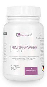 FürstenMED® Bindegewebe Kapseln + Straffe Haut – Anti Cellulite Orangenhaut – Hochdosiert mit OPC, Kieselgur, I3C, Ala, Biotin, Zink uvm. Vegan & Ohne Zusatzstoffe