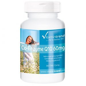 Co-Enzym Q10 60mg – Großpackung mit 360 Tabletten – ! FÜR 6 MONATE ! – vegan – Ubichinon