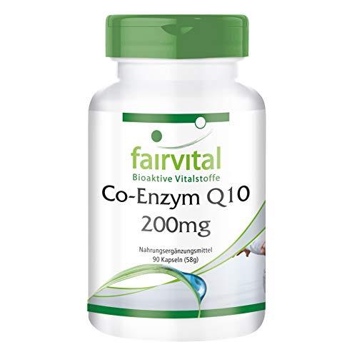 Co-Enzym Q10 200mg - für 3 Monate - VEGAN - HOCHDOSIERT - 90 Kapseln - Ubichinon