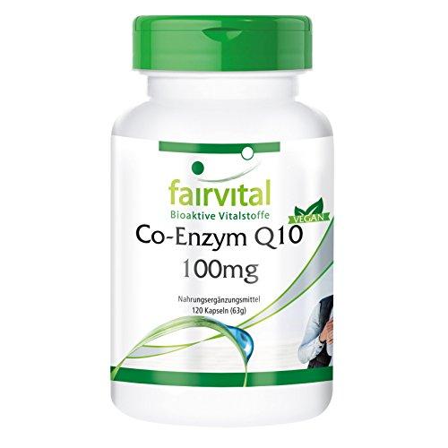 Co-Enzym Q10 100mg - Für 4 Monate - VEGAN - HOCHDOSIERT - 120 Kapseln - Ubichinon