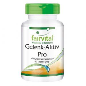 Gelenk-Aktiv Pro – für 1 Monat – HOCHDOSIERT – 90 Kapseln – mit Glucosamin, Chondroitin, MSM und mehr