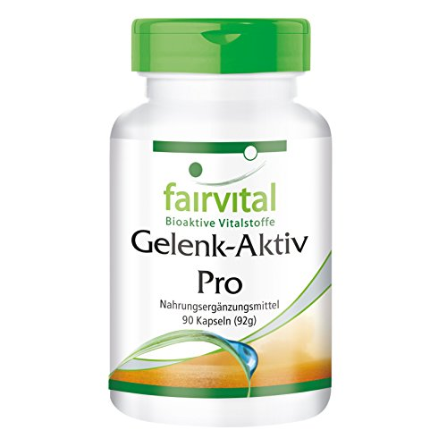 Gelenk-Aktiv Pro - für 1 Monat - HOCHDOSIERT - 90 Kapseln - mit Glucosamin, Chondroitin, MSM und mehr