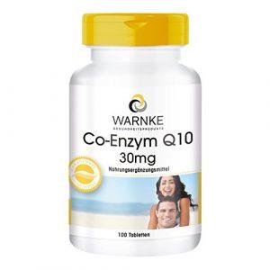 Warnke Co-Enzym Q10 30mg 100 Tablette, 1er Pack (1 x 45 g)