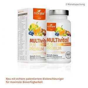 Eubiopur Multivital Pur Premium, Multivitamin Tabletten, 1er Pack (60 Kapseln)