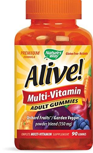Nature 's Way Alive. Premium Formel Multivitamin Erwachsene Gummitiere, 90zählen