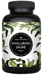 Hyaluronsäure Kapseln – 500mg je Kapsel – 90 Stück (3 Monate). Hyaluron 500-700 kDa. Laborgeprüft, hochdosiert, vegan, hergestellt in Deutschland