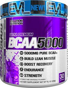 Evlution Nutrition BCAA 5000 | Pulverartiges Ergänzungsmittel Mit 5 Gramm Premium BCAA | 30 Portionen | Furious Grape