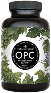 OPC Traubenkernextrakt – 240 Kapseln. Höchster OPC Gehalt nach HPLC – Premium: aus französischen Weintrauben. 860mg Extrakt mit 600mg OPC je Tagesdosis. Laborgeprüft, vegan, hergestellt in Deutschland