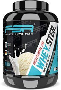 Whey Protein Eiweißpulver der deutschen Profisport Marke FSA Nutrition® | Low Carb Proteinpulver mit BCAA | Hergestellt in Deutschland | 900g | Vanilla Ice Cream