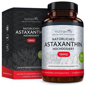 Astaxanthin 18 mg – Hochdosiert – 6-Monats-Versorgung – 180 Kapseln – Laborgeprüft – Premium Qualität – Hergestellt aus der Microalge Haematococcus Pluvialis aus Hawaii