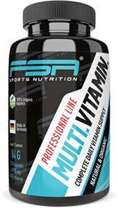 Multivitamin 120 Kapseln, vegan mit Frucht und Gemüsemischung – von der Profisport-Marke FSA Nutrition, Hergestellt in Deutschland