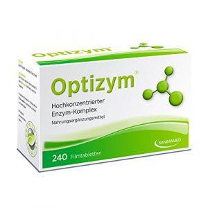 OPTIZYM Enzym-Komplex mit einzigartiger 6-fach Kombination (Papain, Bromelain, Pankreatin, Rutin, Trypsin und Chymotrypsin) Selbstheilungskräfte aktivieren – Enzyme Hochkonzentiert (240 Filmtabletten)