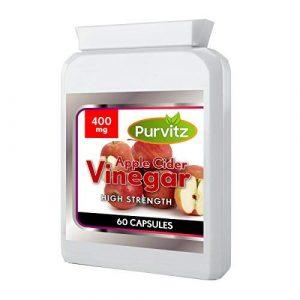 Apfelessig – 60 Kapseln – 1000 MG Täglich Dosierung von Purvitz – Hergestellt in Großbritannien