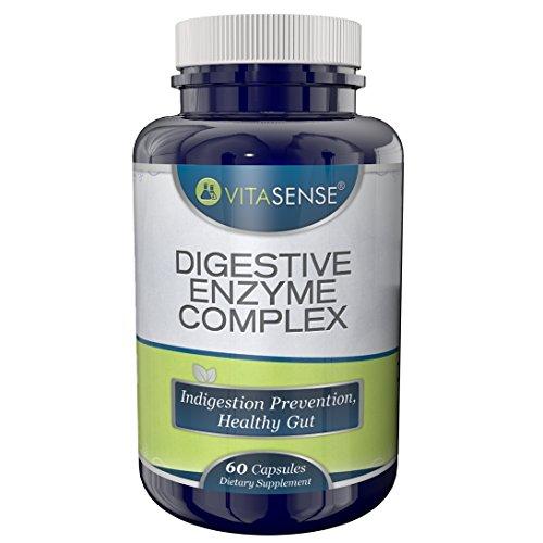 VitaSense Verdauungs Enzym Komplex - Verdauungsstörungen-Prävention, gesunde Darm - 60 Kapseln