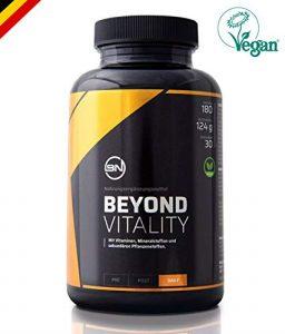 VITALITY natürlicher Fokus & Zellschutz Komplex, hochdosiert | Antioxidantien, Vitamine C-B12-D3-K2 und Mineralstoffe | Bio Maca, Selen, Alpha-Liponsäure, Zink | 150 Kapseln Nahrungsergänzung, vegan