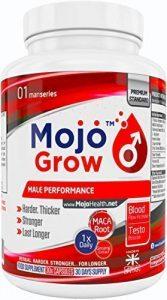 GROW – Erektion Ergänzungsmittel für Männer Libido steigern Sperma Booster 1x Tag Manneskraft Virilitäts Steigerung Natürliche Kräuter Formel für Ausdauer Durchhaltevermögen Aphrodisiakum